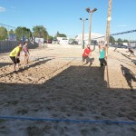 Community involvement people playing volleyball