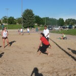 Community Involvement volleyball game